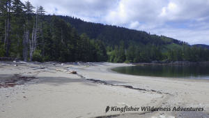 Northern Gwaii Haanas Kayak Tour - Beach camping in Gwaii Haanas.