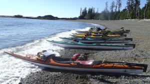 Northern Gwaii Haanas Kayak Tour - Preparing the kayaks to launch.