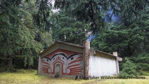 "Northern Gwaii Haanas Kayak Tour - ""Looking Around and Blinking House"" at Windy Bay."