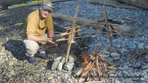 Southern Gwaii Haanas Kayak Tour - We never plan on catching fish, but barbecued salmon is always a treat.