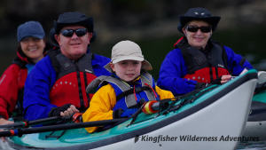 Family Kayak With Whales Tour - On family tours smaller children often paddle from the front of a double kayak with a parent in the back.