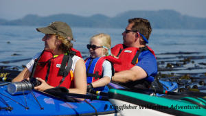 Family Kayak With Whales Tour - We have special kayaks with a center seat for smaller children.