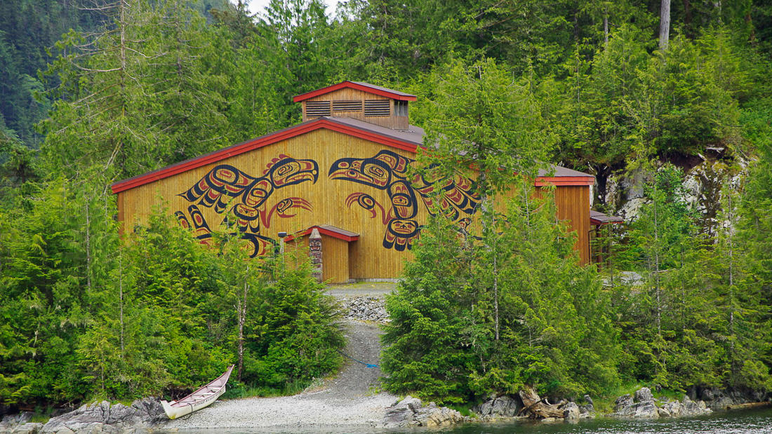 Great Bear Rainforest Kayak Expedition - The Big House in Klemtu.