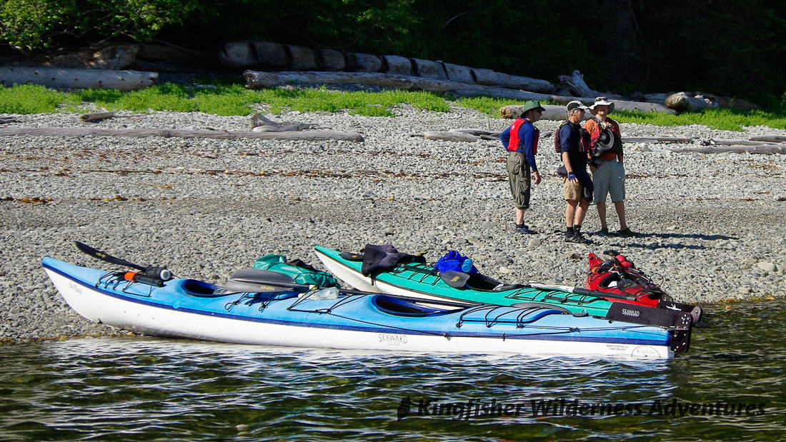 Great Bear Rainforest Kayak Expedition - Taking a break from kayaking in the Great Bear Rainforest