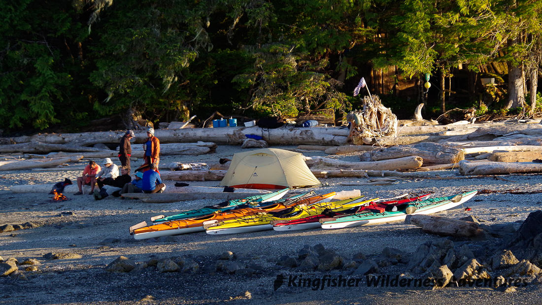 Great Bear Rainforest Kayak Expedition - A remote island kayak camp in the Great Bear Rainforest.