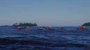 Sea Otter Explorer Kayak Tour - Kayaking toward Catala and Twin Islands.