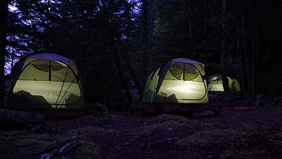 Base camp tents.