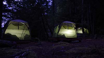 Base camp tents.