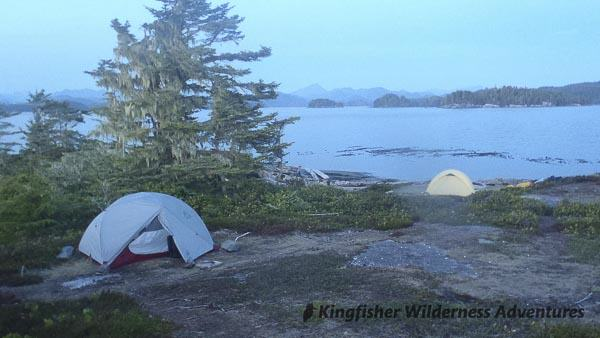 Orca Waters Explorer Kayak Tour - Camping on an island in the Broughton Archipelago.