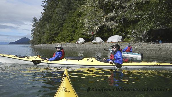 Southern Gwaii Haanas Kayak Tour - A kayak beach camp in in Gwaii Haanas.