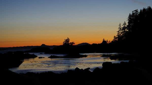 Great Bear Rainforest Kayak Expedition - Great Bear Rainforest sunset.